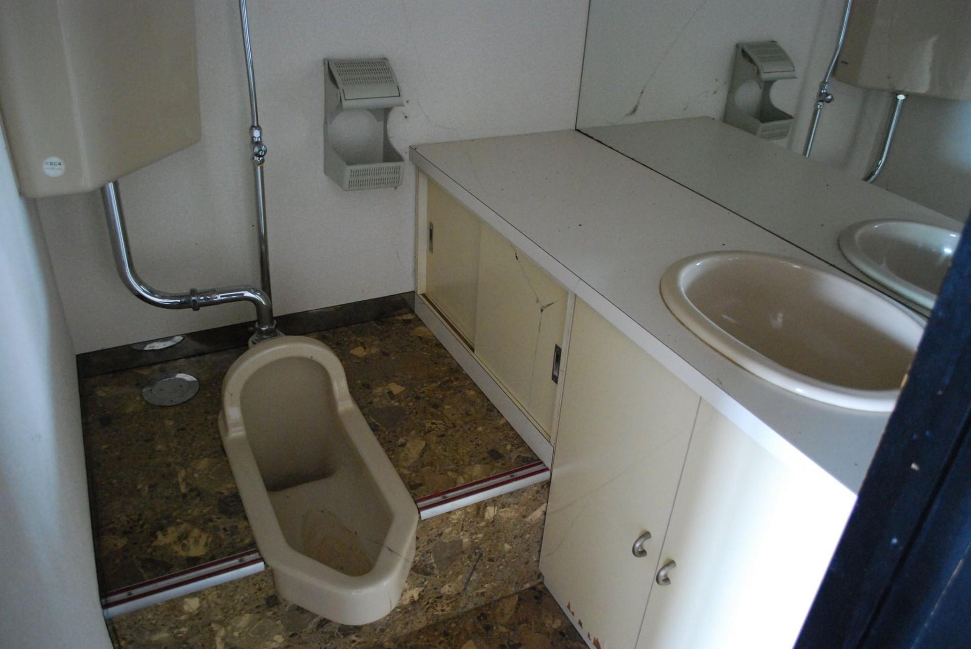 多少クリーニングは必要だが、トイレも完備