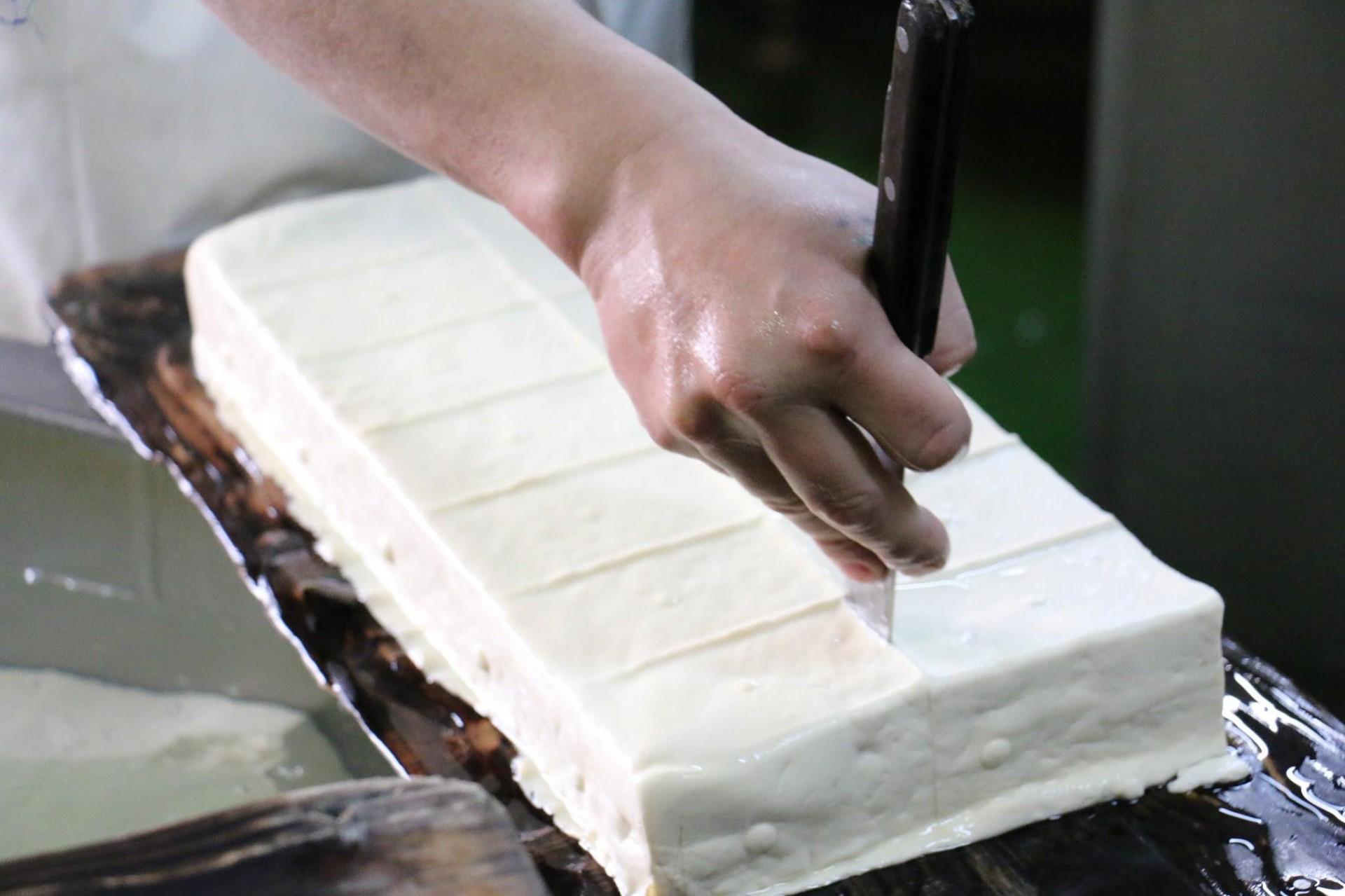 濃厚な作りたての豆腐