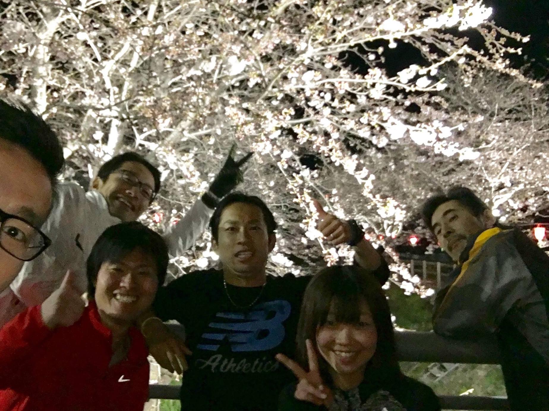 先日は夜桜ランニングになりました!