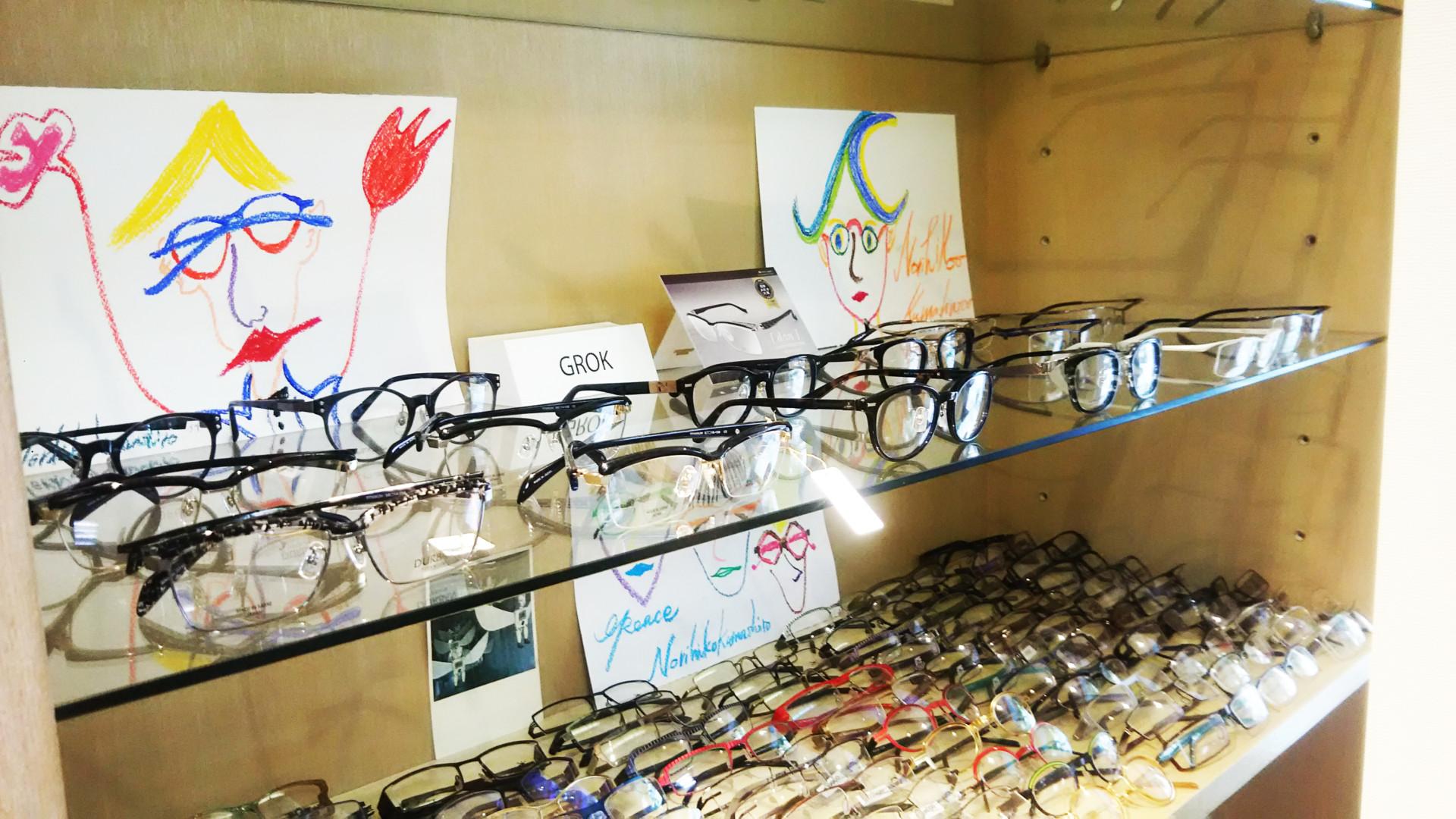 デザイン・機能性ともに厳選された眼鏡の数々