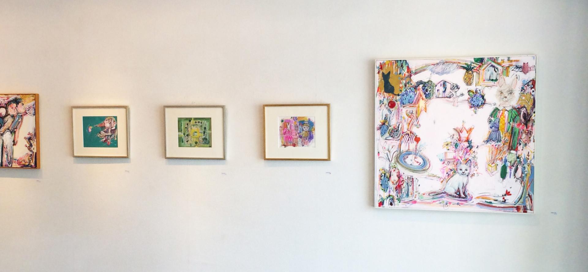 取材した日は画家 五嶋稔さんの絵画が飾られていました   ※現在は既に終了
