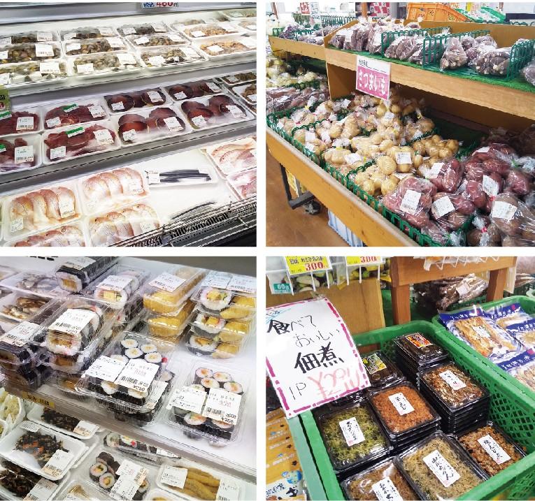 魚介類やちょっとしたお惣菜やお弁当など、加工食品も種類豊富
