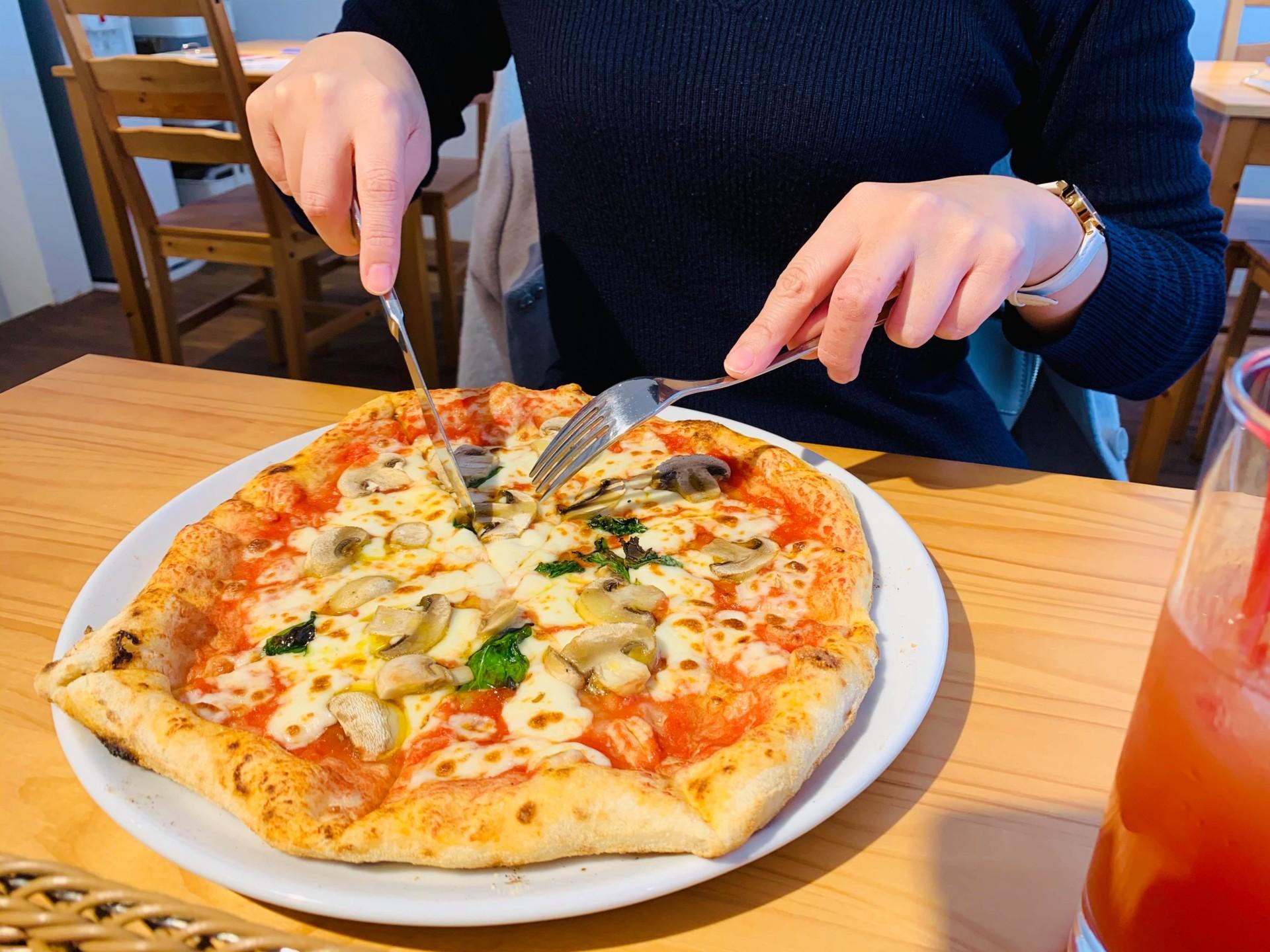 ランチセットのピッツァ(一例)