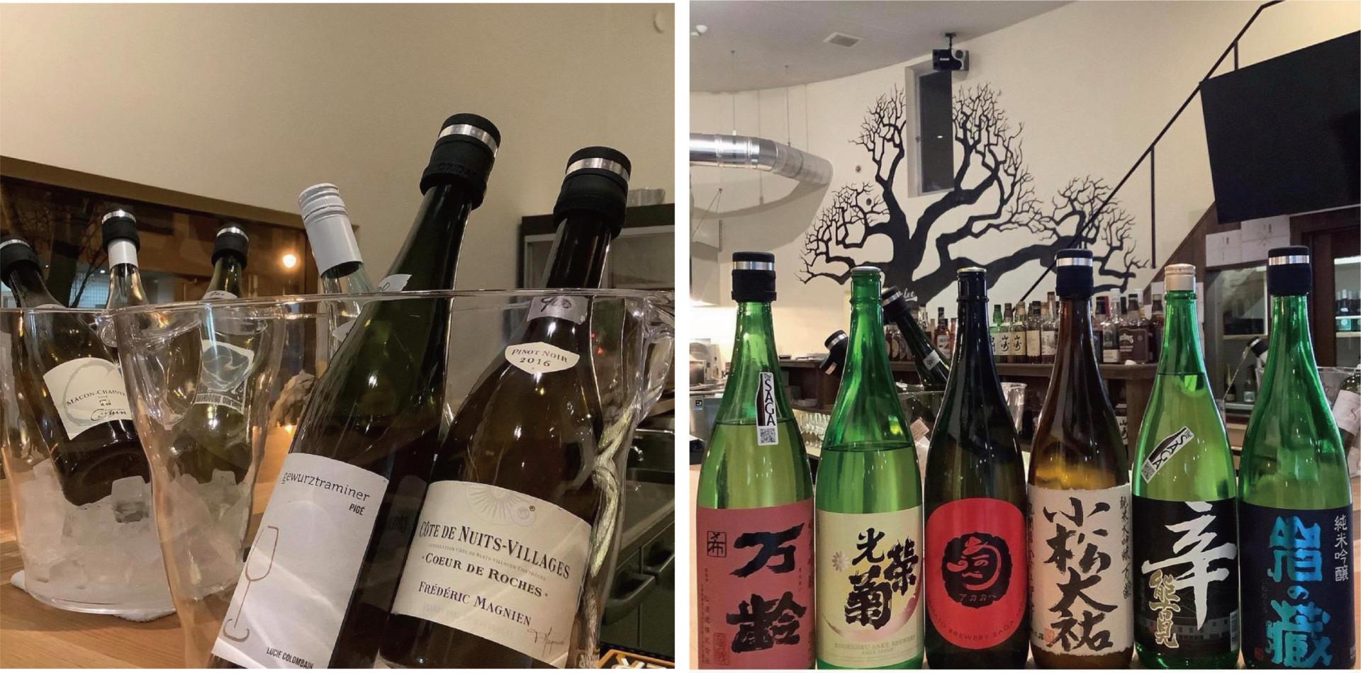 常時300本は揃う「自然派ワイン」・日本酒も充実